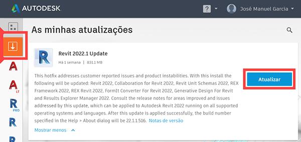 Luso Cuanza: A atualização do REVIT 2022 ou do REVIT LT 2022 para a versão 2022.1 já se encontra disponível